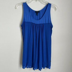 Escada Sport Blue Sleeveless Pleated Blouse